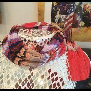 Moschino multi color scarf